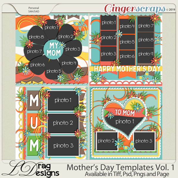 Mother's Day Templates Vol.1 by LDrag Designs