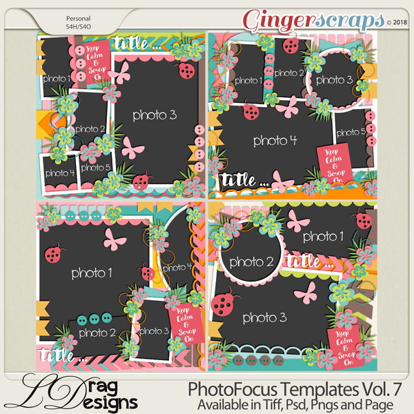 Photo Focus Templates Vol.7 by LDragDesigns