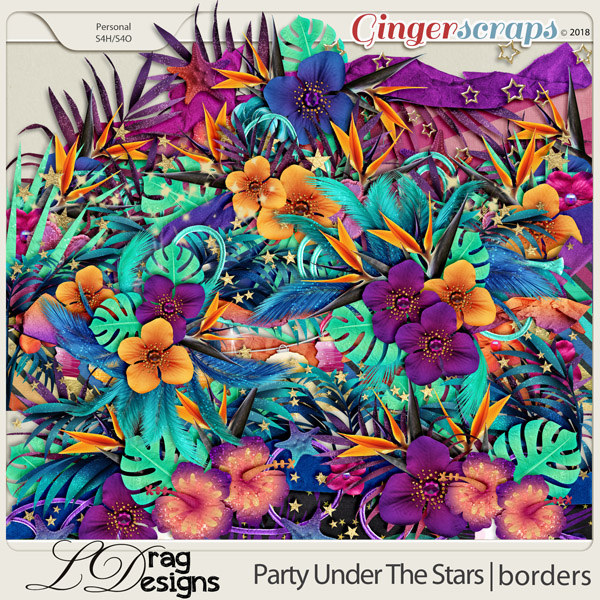 Party Under The Stars: Borders by LDragDesigns