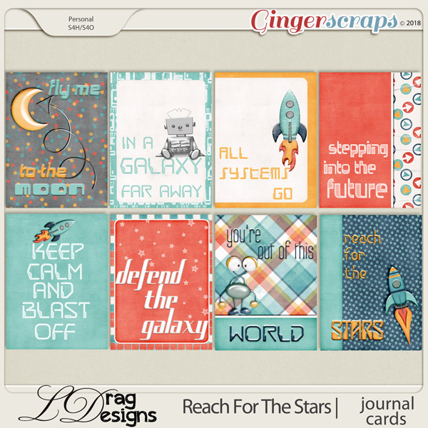 Reach For The Stars: Journal Cards by LDrag Designs
