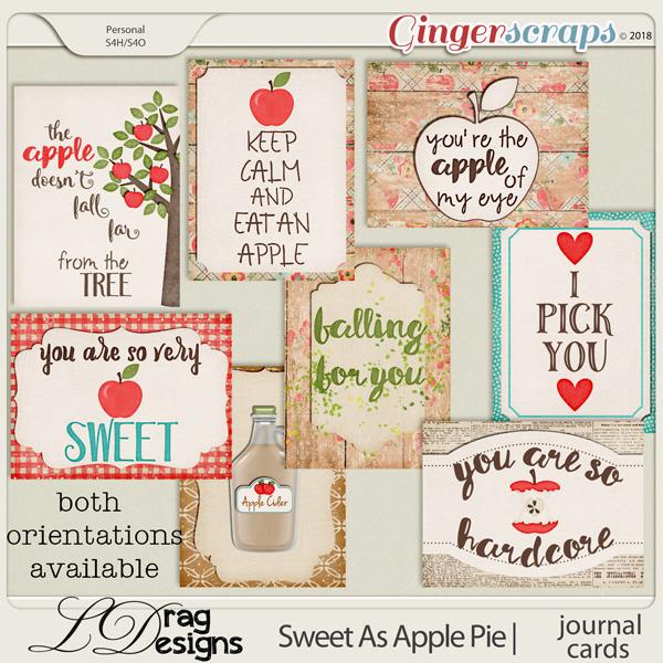 Sweet As Apple Pie: Journal Cards by LDragDesigns