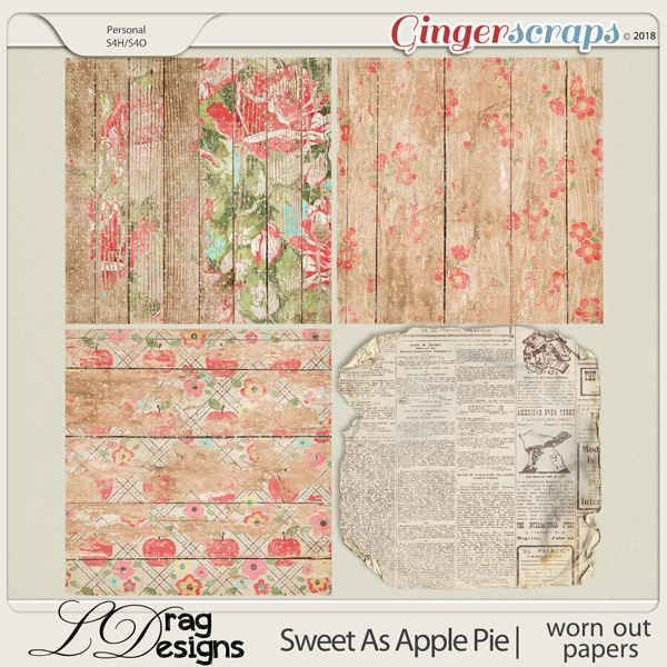Sweet As Apple Pie: Worn Out Papers by LDragDesigns