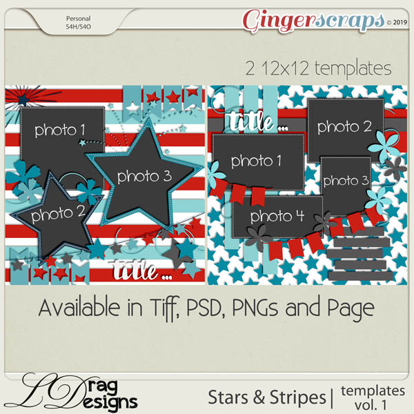 Stars & Stripes:Templates Vol. 1 by LDragDesigns