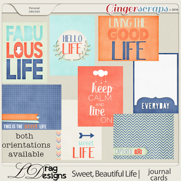 Sweet, Beautiful Life: Journal Cards by LDragDesigns