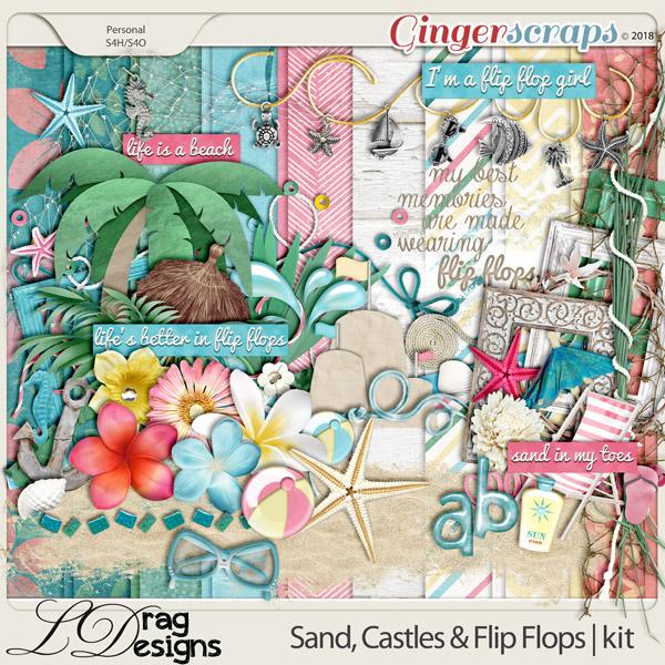 Sand, Castles & Flip Flops by LDragDesigns