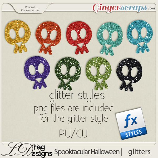 Spooktacular Halloween: Glitterstyles by LDragDesigns