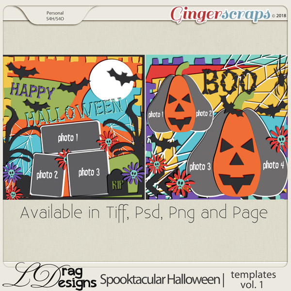 Spooktacular Halloween: Templates Vol.1 by LDragDesigns