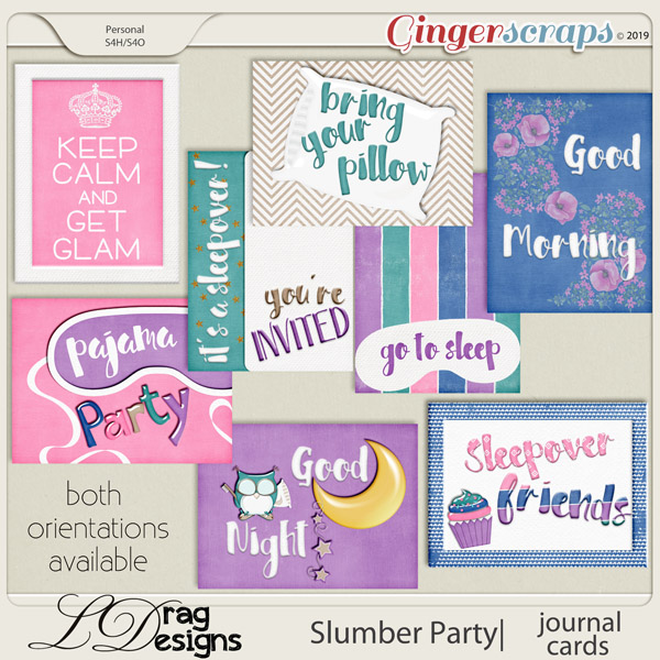 Slumber Party: Journal Cards by LDragDesigns