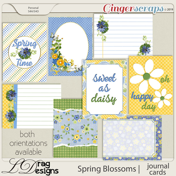 Spring Blossoms: Journal Cards aby LDragDesigns