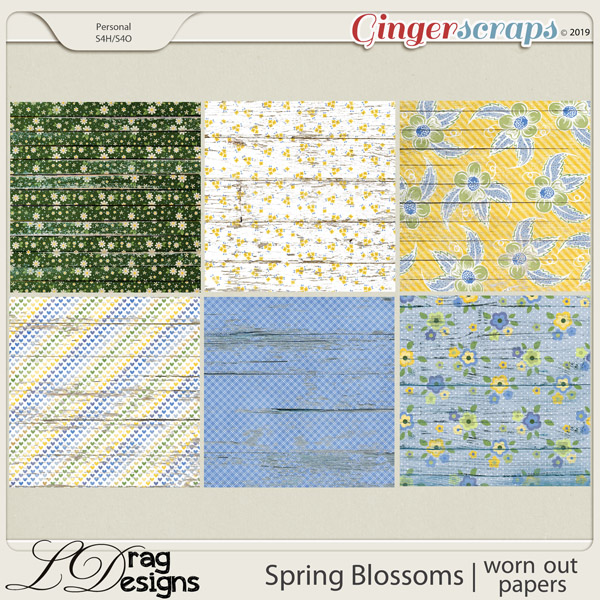 Spring Blossoms: Worn Out Papers by LDragDesigns