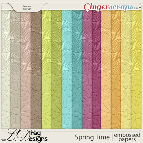 Spring Time: Embossed Papers by LDragDesigns
