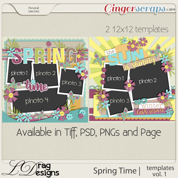 Spring Time: Templates Vol. 1 by LDragDesigns