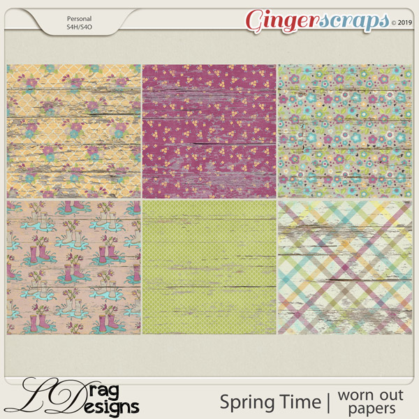 Spring Time: Worn Out Papers by LDragDesigns