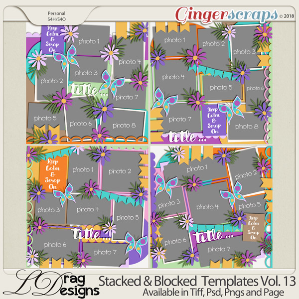 Stacked & Blocked Templates Vol. 13 by LDrag Designs