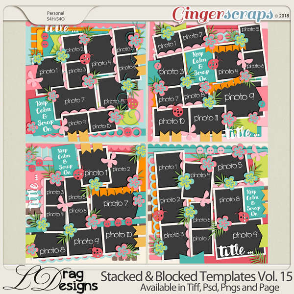 Stacked & Blocked Templates Vol.15 by LDragDesigns