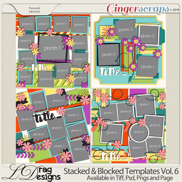 Stacked & Blocked Templates Vol. 6 by LDrag Designs