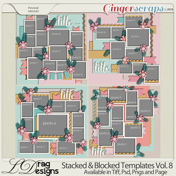Stacked & Blocked Templates Vol. 8 by LDrag Designs