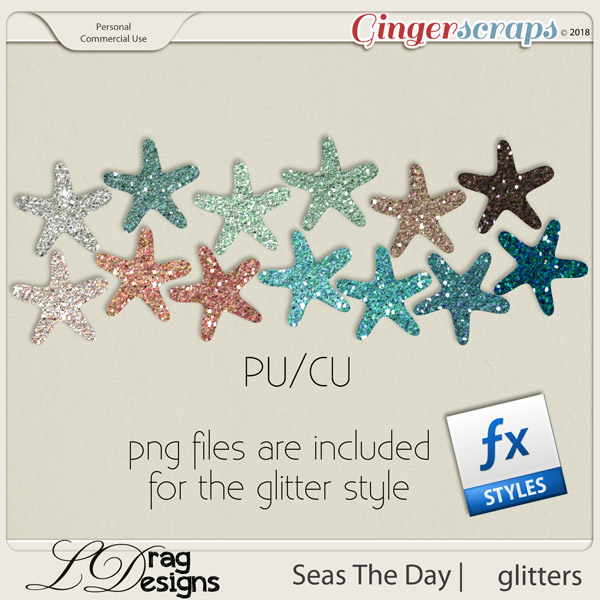 Seas The Day: Glitterstyles by LDrag Designs