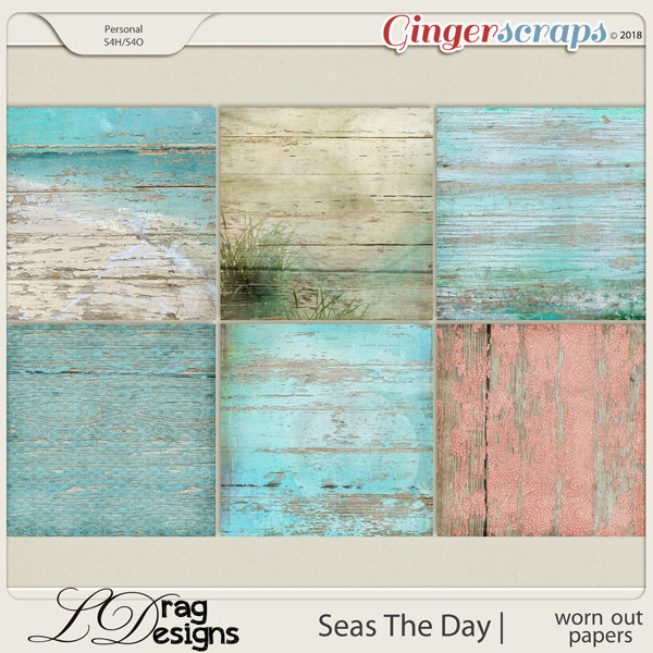 Seas The Day: Worn Out Papers by LDrag Designs