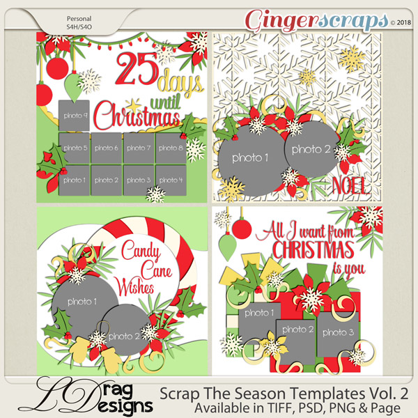 Scrap The Season Templats Vol. 2 by LDragDesigns
