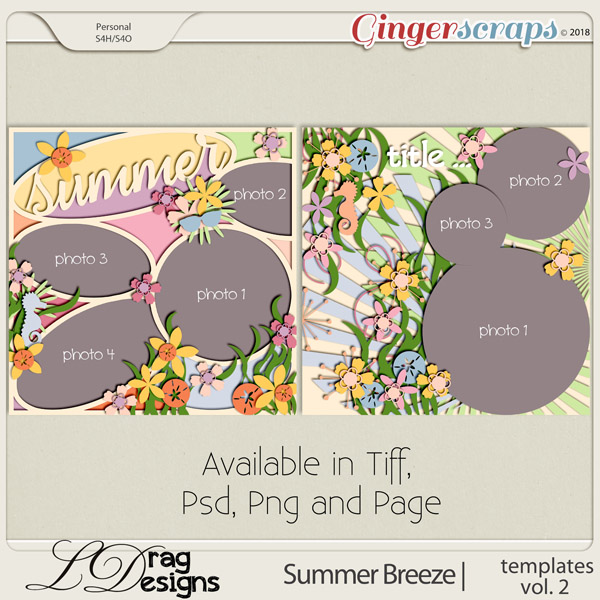 Summer Breeze: Templates Vol. 2 by LDragDesigns