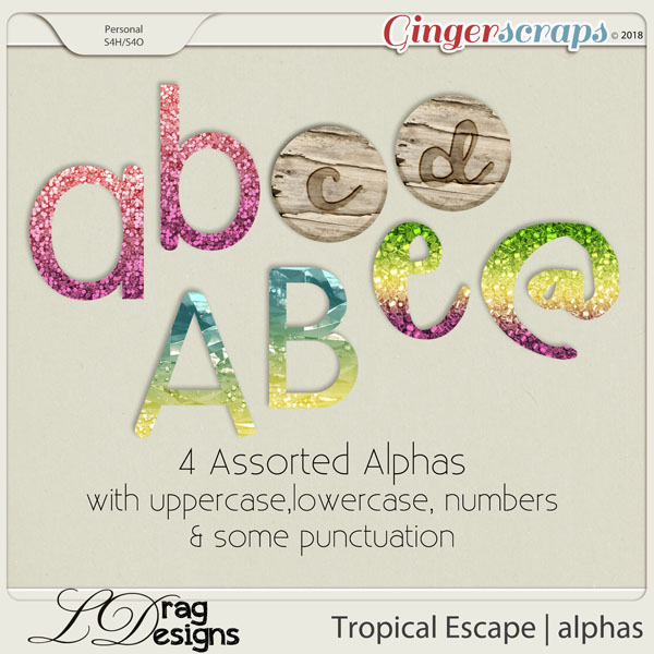 Tropical Escape: Alphas by LDragDesigns