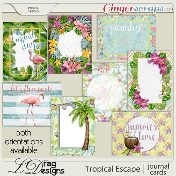 Tropical Escape: Journal Cards by LDragDesigns