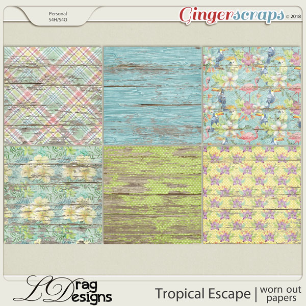 Tropical Escape: Worn Out Papers by LDragDesigns