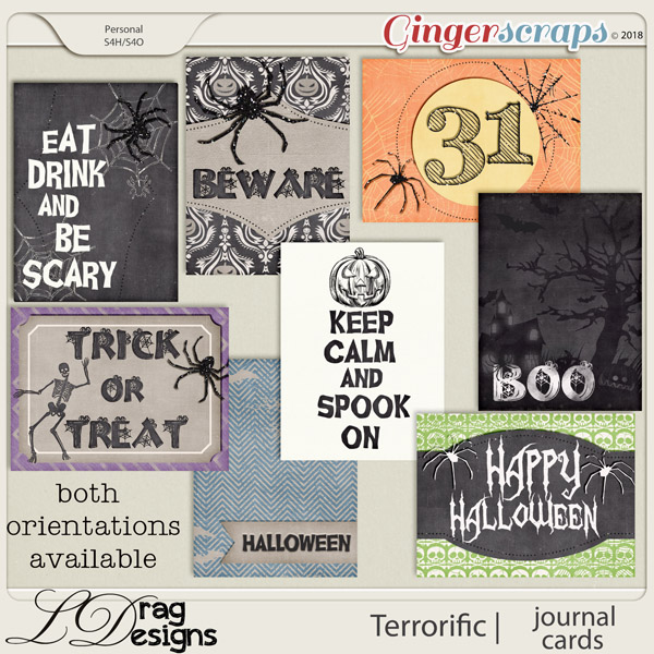 Terror-ific: Journal Cards by LDragDesigns