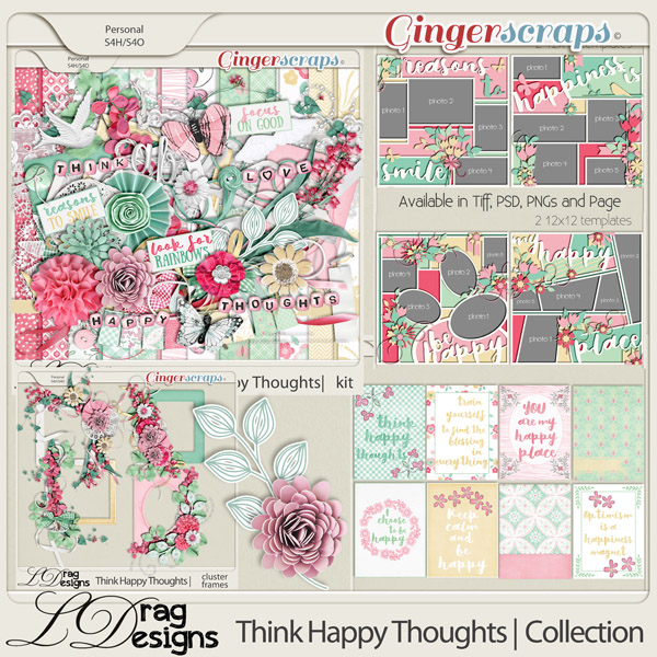 Think Happy Thoughts: The Collection by LDragDesigns