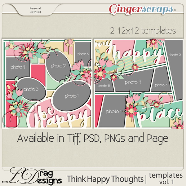Think Happy Thoughts: Templates Vol.1 by LDragDesigns