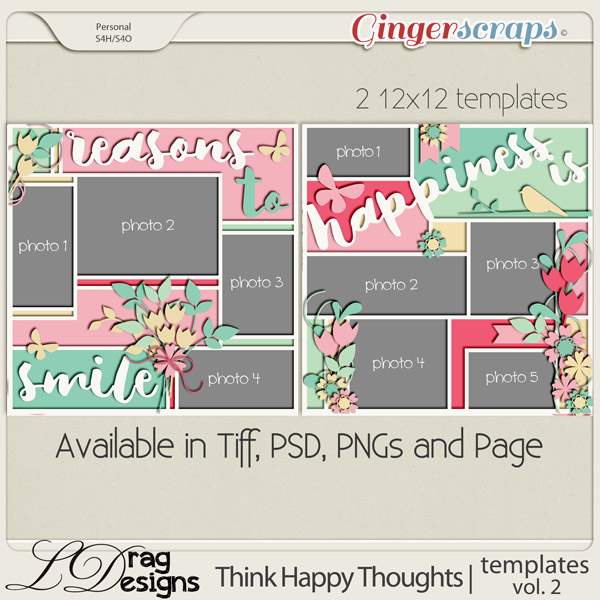 Think Happy Thoughts: Templates Vol.2 by LDragDesigns