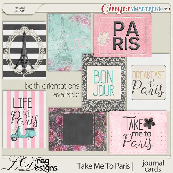 Take Me To Paris: Journal Cards by LDragDesigns