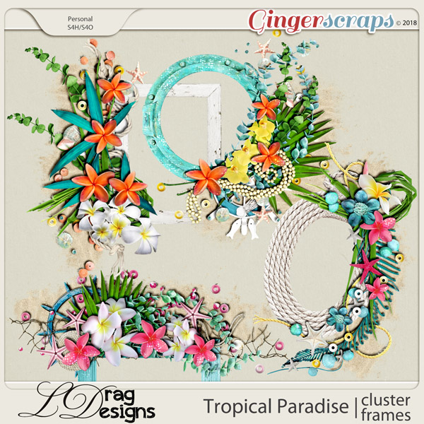 Tropical Paradise: Cluster Frames by LDragDesigns