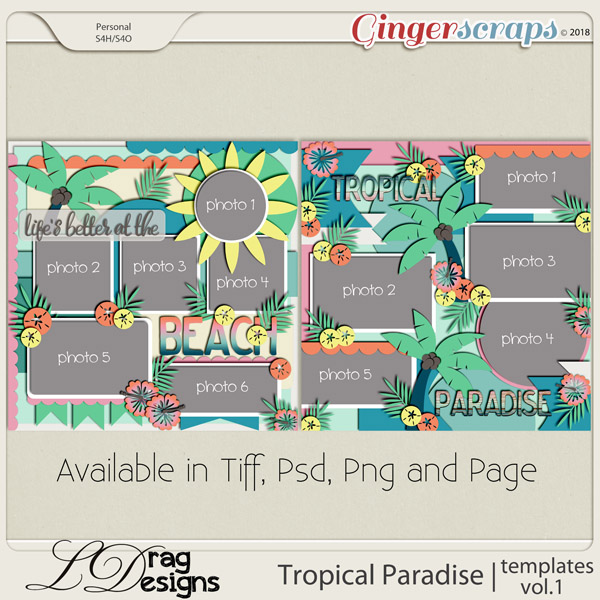 Tropical Paradise: Templates Vol. 1 by LDragDesigns