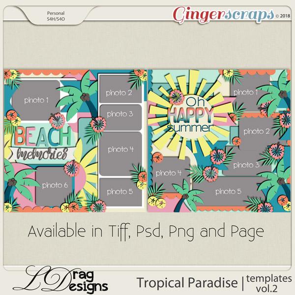 Tropical Paradise: Templates Vol. 2 by LDragDesigns