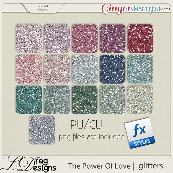 The Power Of Love: Glitterstyles by LDragDesigns