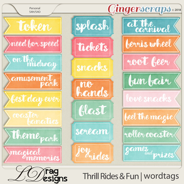 Thrill Rides & Fun: Wordtags by LDrag Designs