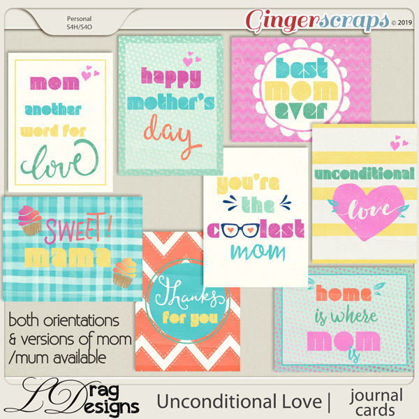 Unconditional Love: Journal Cards by LDragDesigns