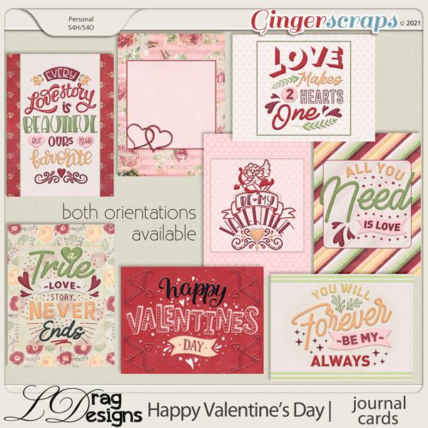 Valentine's Day: Journal Cards by LDragDesigns