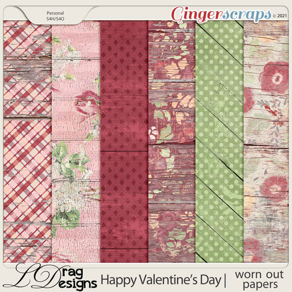 Valentine's Day: Worn Out Papers by LDragDesigns