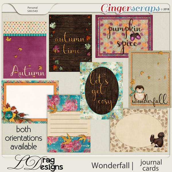 Wonderfall: Journal Cards by LDragDesigns