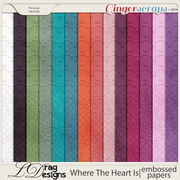 Where The Heart Is: Embossed Papers by LDragDesigns
