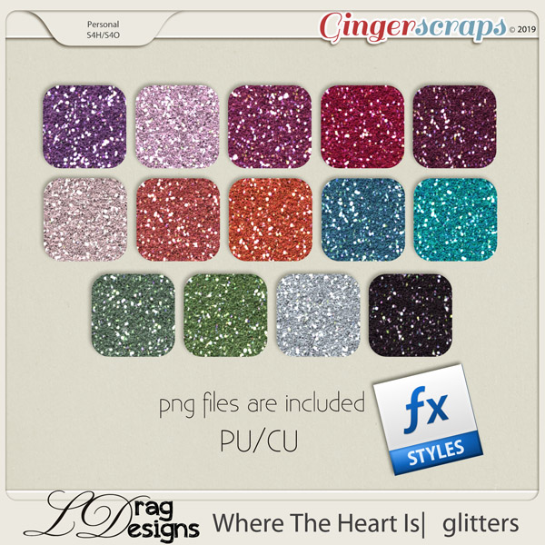 Where The Heart Is: Glitterstyles by LDragDesigns