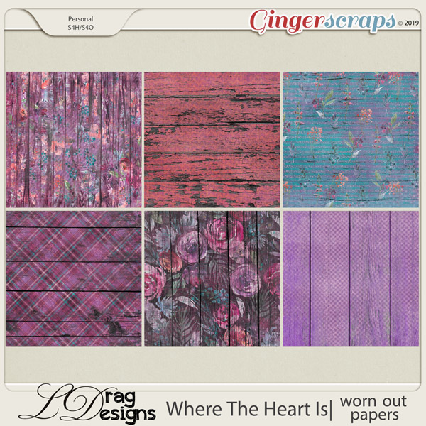 Where The Heart Is: Worn Out Papers by LDragDesigns