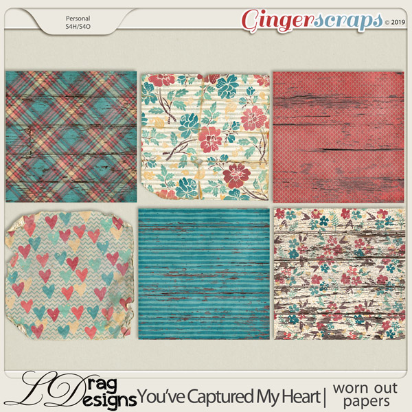 You've Captured My Heart: Worn Out Papers by LDragDesigns