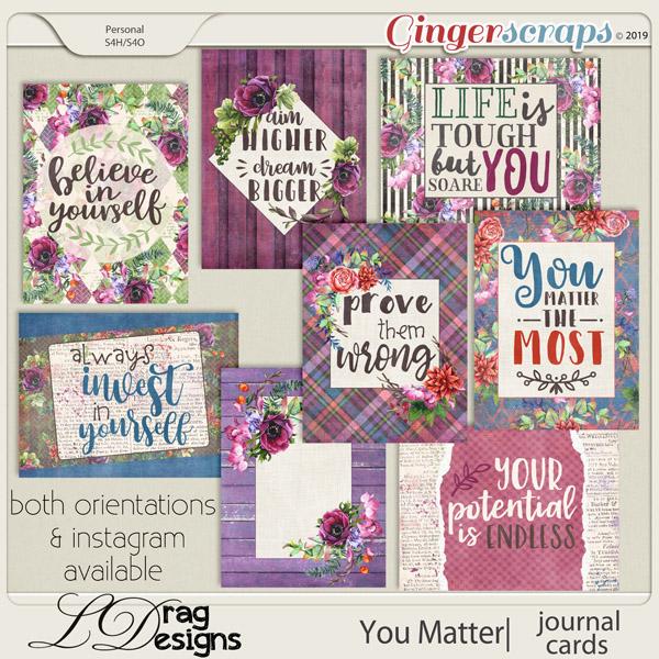 You Matter: Journal Cards by LDragDesigns