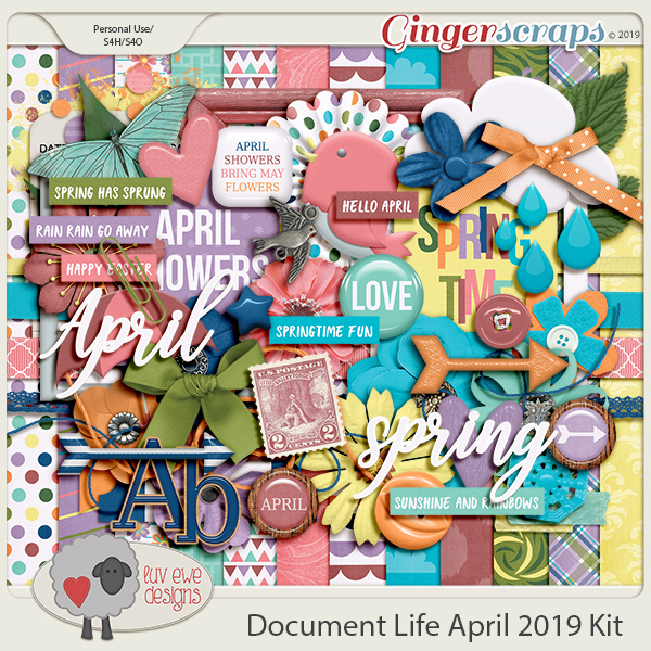 Document Life April 2019 Kit by Luv Ewe Designs