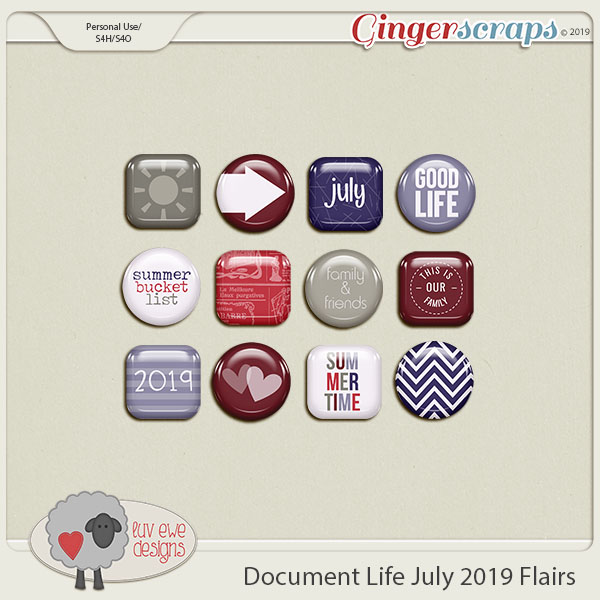 Document Life July 2019 Flairs by Luv Ewe Designs