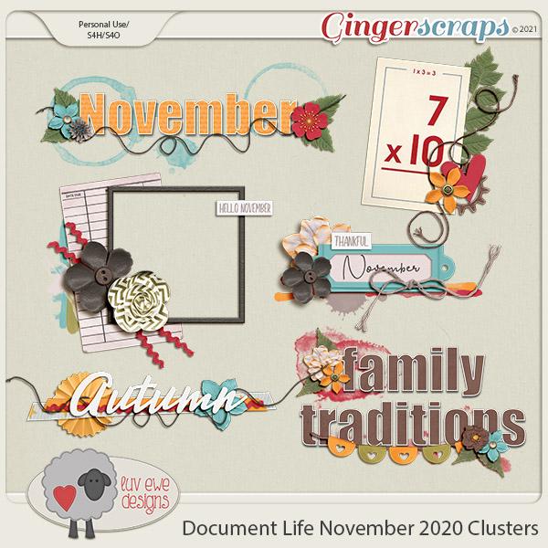 Document Life November 2020 Clusters by Luv Ewe Designs